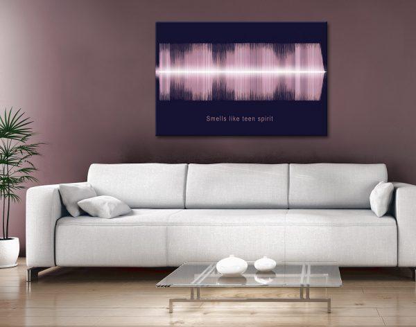 Smells Like Teen Spirit Soundwave Art Gift Ideas Australia