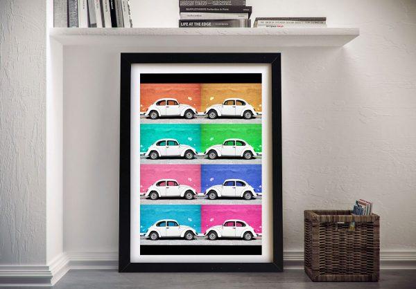 Buy VW Beetle Cars Viva Mexico Framed Art