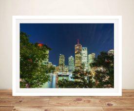 Brisbane At Night Noel Buttler Canvas Art