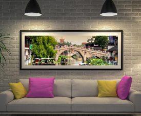 Buy Shanghai Water Town Panoramic Canvas Art