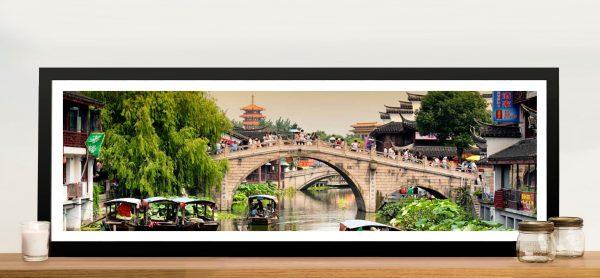 Shanghai Water Town Panoramic Artwork