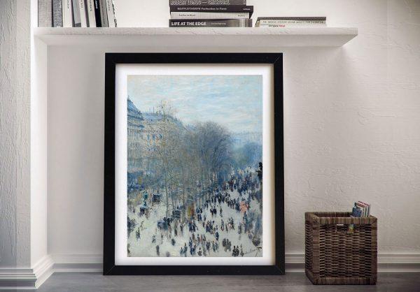 Boulevard des Capucines Monet Framed Wall Art