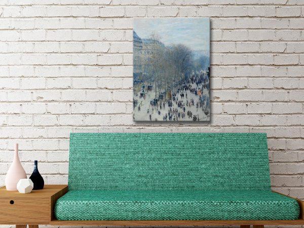 Boulevard des Capucines Framed Monet Wall Art