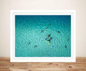 French Polynesia Aerial Framed Print