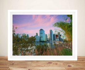 Brisbane Dusk Framed Wall Art By Noel Buttler