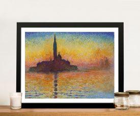 San Giorgio Maggiore At Dusk Canvas Print