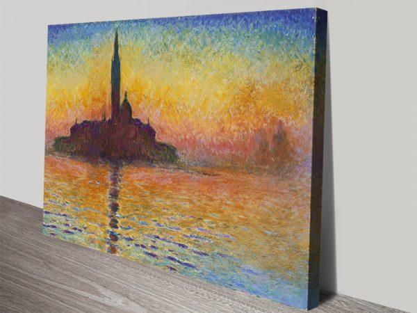 San Giorgio Maggiore At Dusk Monet Art Print AU