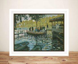 Bain à la Grenouillère Framed Classic Art