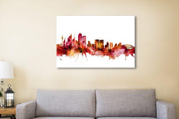 Buy Michael Tompsett's Sydney Skyline Artwork