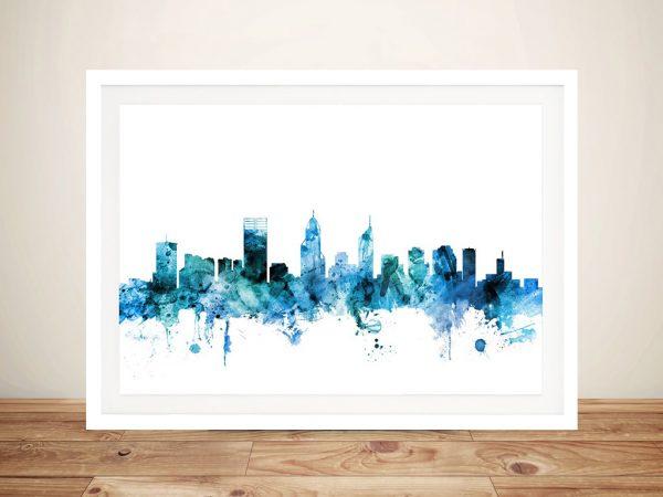 Buy Perth Skyline Wall Art by Michael Tompsett