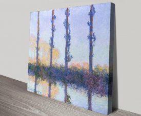 Buy Monet's Four Trees Classic Art on Canvas