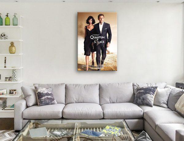 Buy Quantum of Solace Movie Art Canvas Prints Online