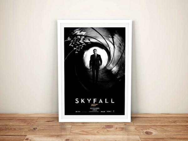 Framed Poster Print For The FIlm Skyfall