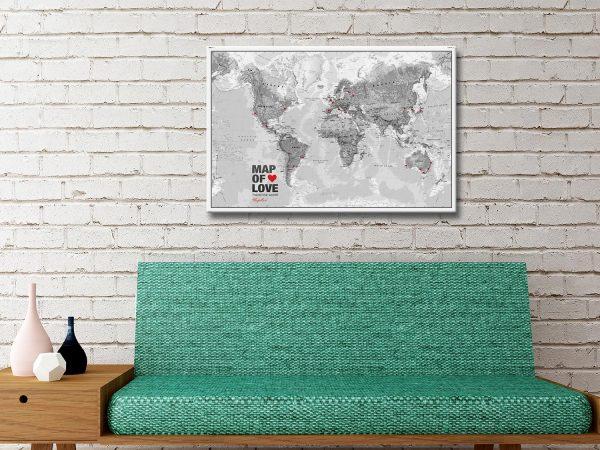Buy Atlantas Push Pin World Map Wall Art AU