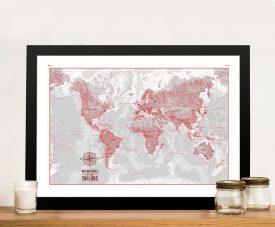 Buy PersonalisedColour Wash Push Pin Maps