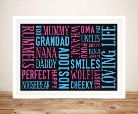 Loving Life Personalised Canvas Framed Print