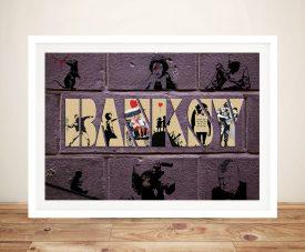 Buy Bespoke Banksy Framed Canvas Artwork