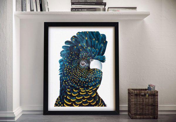 Buy Blue Cockatoo Framed Canvas Wall Art