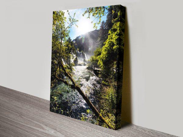 Buy Waterfalls in the Jiuzhaigou ll Wall Art AU