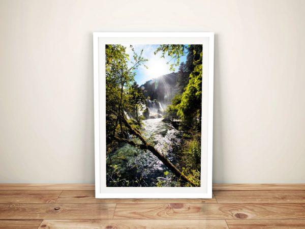Buy Waterfalls in the Jiuzhaigou ll Canvas Art