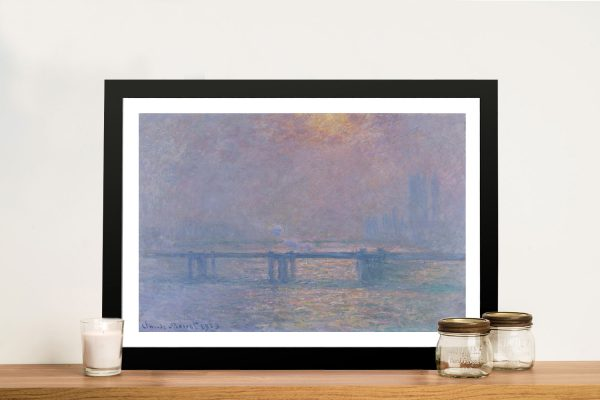 Charing Cross Bridge Classic Monet Wall Art