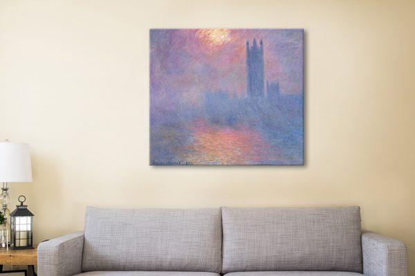 Effect of Sunlight in Fog by Monet Gift Ideas AU