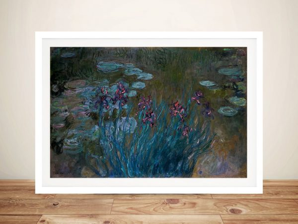 Buy Irises and Water Lilies Classic Wall Art