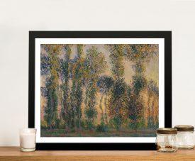 Buy Poplars at Giverny Sunrise Monet Wall Art