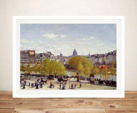 Buy Quai du Louvre by Monet Framed Wall Art