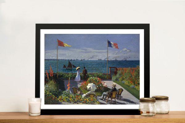 Jardin à Sainte Adresse Monet Framed Print