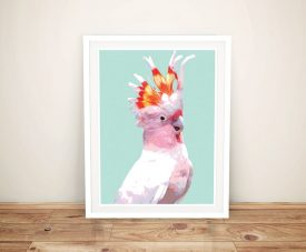 Buy a Canvas Print of a Beautiful Flaming Galah