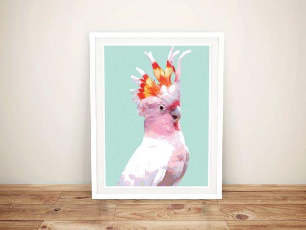 Buy a Canvas Print of a Beautiful Flaming Galah