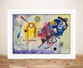 Buy Jaune Rouge Bleu Abstract Painting Print
