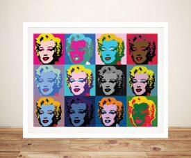 Marilyn Monroe Warhol Vintage Pop Art Print
