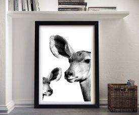 Antelope & Baby Safari Profile Framed Wall Art