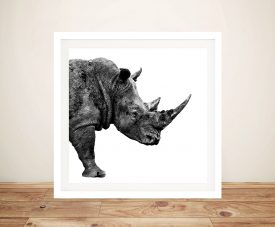 Buy Safari Profile Rhino Artwork by Hugonnard