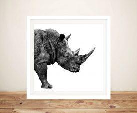 Buy Safari Profile Rhino Artwork by Hugonnard