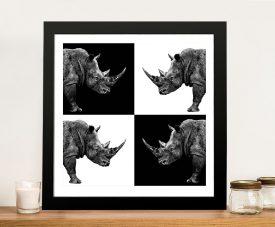 Safari Profile Collection Rhinos Canvas Print