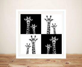 Buy Framed Wall Art of Two Giraffes Online