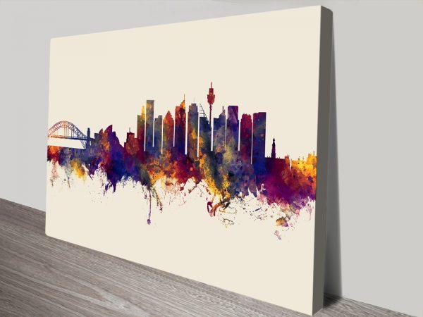 Sydney Australia Skyline Michael Tompsett Canvas Print