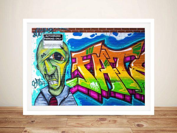 Buy Artistic Bricks Framed Graffiti Wall Art