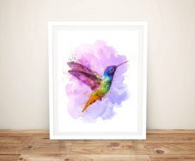 Buy a Watercolour Hummingbird Canvas Print