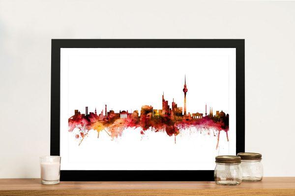 Buy Berlin Skyline Framed Canvas Print