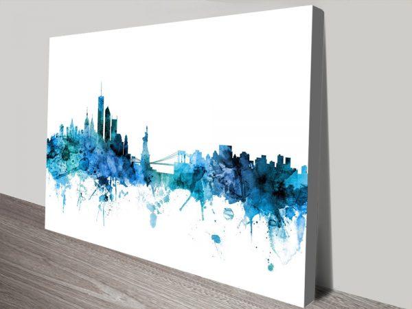 Buy New York Skyline Cheap Canvas Prints AU