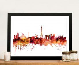 Paris Autumnal Skyline Framed Wall Art Online