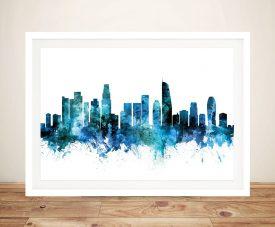 Buy Los Angeles Canvas Wall Art in Blue