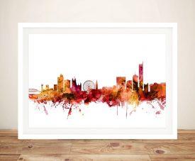 Buy Manchester Skyline Framed Wall Art