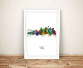 Sydney Skyline Michael Tompsett Canvas Print