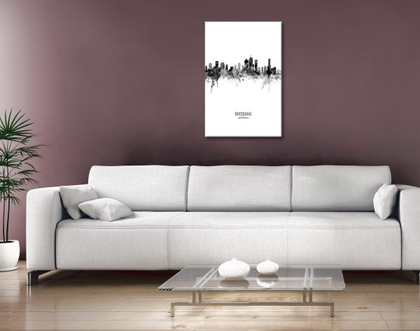 Buy Brisbane Skyline Wall Art Gift Ideas AU