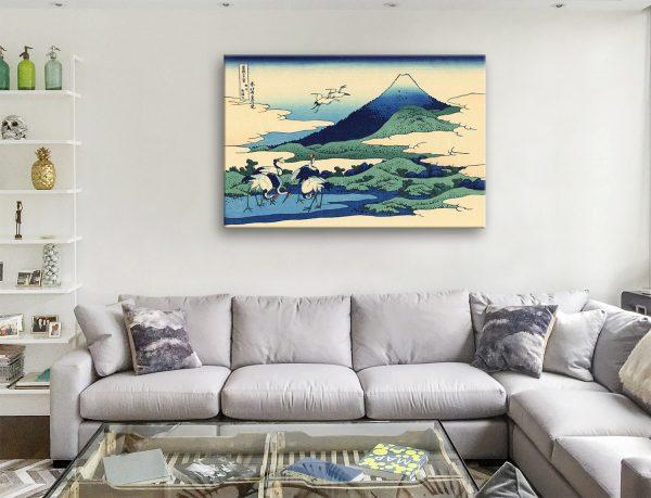 Umegawa in Sagami Province Katsushika Hokusai Canvas Artwork